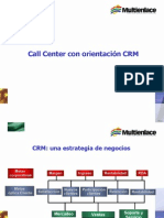 Call Center con orientación CRM