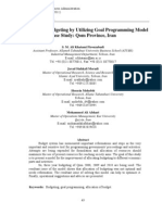 Assessment of Budgeting by Utilizing Goal Programming Model Case Study
