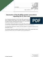 N041-21!09!11-Declaration of UEFA Member Associations Regarding the FC Sion Case