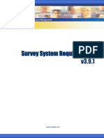 Survey System Requirements Tech Note v3.9.1
