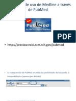 Guía breve de uso de Medline a través de PubMed