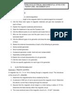 Training Machine1, Homework in electrical machines