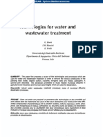 Technologies for Water & Waste Water Treatment