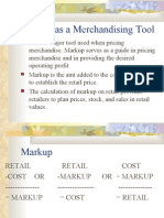 Markup as a Merchandising Tool