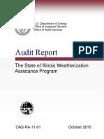 Dept. of Energy Report on Weatherization Program