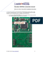 Mercedes CAN Filter Connection Manual 2011