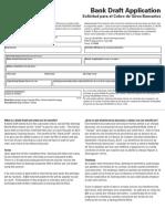Bank Draft Application