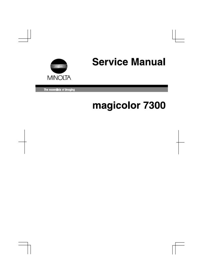 Konica Minolta QMS Magicolor 7300 Service Manual