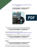 APOSTILA TCU AUDITOR FEDERAL CONTROLE EXTERNO - AUDITORIA GOVERNAMENTAL  2011