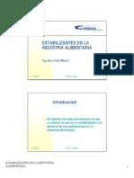 Clase 091113 Estabilizantes y Emulsificantes en La Industria de Alimentos[1]