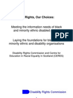 Our Rights, Our Choices - Meeting the Information Needs of BME Disabled People