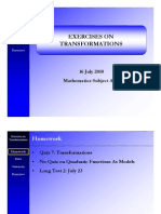 Exercises on Transformations