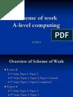 Scheme of Work a-Level Computing