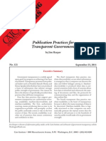 Publication Practices for Transparent Government, Cato Briefing Paper No. 121