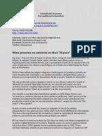 Comunicado EL POZO MIMA, nuevo disco