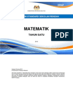 Huraian Sukatan Pelajaran HSP Matematik Tahun 1 KSSR
