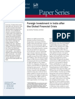 Foreign Investment in India after the Global Financial Crisis