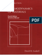 Introduction to the Thermodynamics of Materials 4e Gaskell
