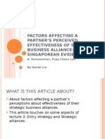 IB2 GrpB L3 Factors Affecting Partner's Perceived Effectiveness of Business Alliance - Daniel Lin