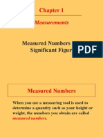 Measured and Exact Numbers