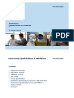 Qualification of Autoclaves