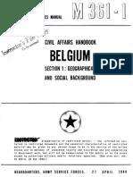Civil Affairs Handbook Belgium Section 1