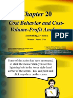21542374 Cost Behavior and Cost Volume Profit Analysis