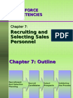 Ch07 - Recruiting and Selecting Sales Personnel