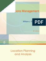 Chap008 Location Planning & Analysis