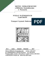 Wykaz nabytków GBK nr 2011/3