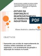 ESTUDO DO REAPROVEITAMENTO DE RESÍDUOS SÓLIDOS INDUSTRIAIS
