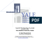 YALE - Origins of Mutual Funds - 2004