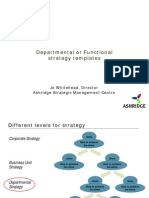 Departmental Strategy Templates