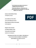 Administración Pública y Procesos de Internacionalización de Ciudadades