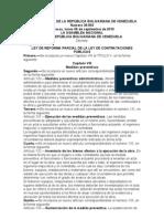 reforma ley contrataciones públicas sept 2010