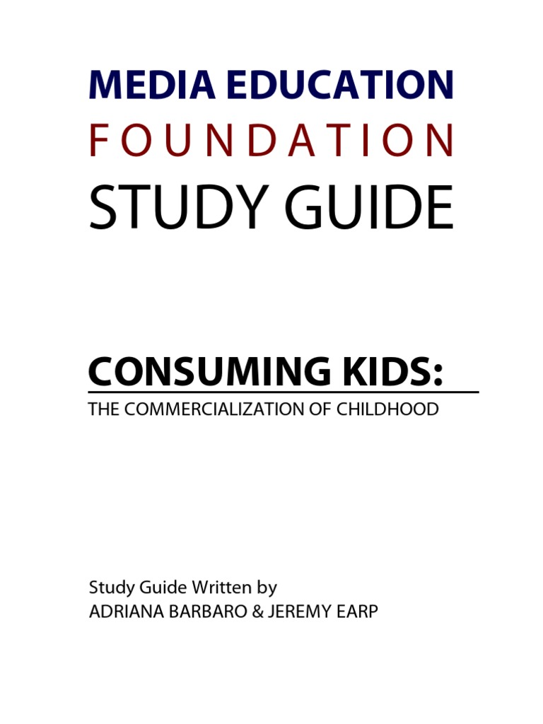 consuming kids the commercialization of childhood essay Find detailed information, trailers, latest news and showtimes about consuming kids: the commercialization of childhood in sinemiacom.