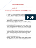 Elaboração do PLANO DE ENSINO DE DISCIPLINA