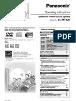Panasonic Dvd Home Theatre Sound System Sa-ht920