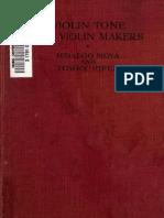 Violin Tone and Violin Makers, By Hidalgo Moya (1916)[1]