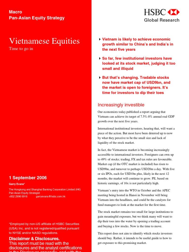 Vietnamese Equities - HSBC Review | Vietnam | Stocks