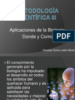 Aplicaciones de La Biologia