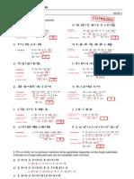 Refuerzo - Números enteros - Ejercicios (II) Soluciones
