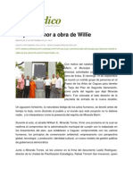 EL PERIÓDICO DE CAGUAS Tarja en honor a obra de Willie