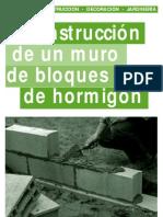 Guia - Construcción de Un Muro de Bloques de Hormigón (Garelli E)