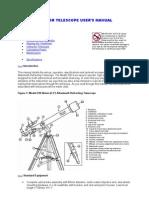 70060 Refractor Telescope User