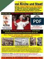 Papsttum - Intoleranz Inquisition Christenverfolgung Antichrist (Papst Besuch 2011 in Berlin Erfurt Eichsfeld Freiburg)
