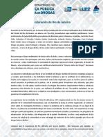 Declaracion Rio Janeiro Policías Drogas ESPAÑOL