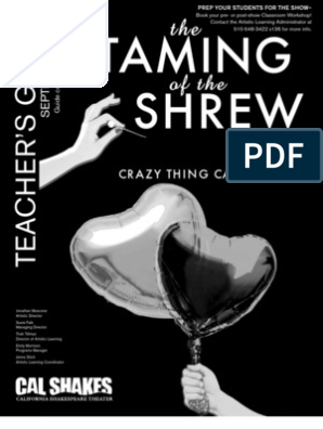 Taming of the Shrew Teacher's Guide | The Taming Of The