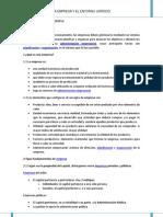 La empresa y el entorno jurídico_Resumen