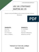 ITC Strategic Management Projetc